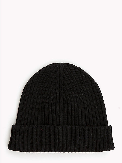 TOMMY HILFIGER Kids' Chunky Knit Beanie - BLACK - TOMMY HILFIGER Shoes & Accessories - detail image 1