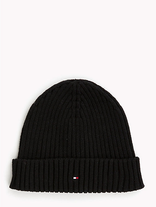 TOMMY HILFIGER Kids' Chunky Knit Beanie - BLACK - TOMMY HILFIGER Shoes & Accessories - main image