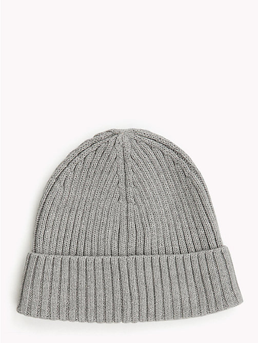TOMMY HILFIGER Kids' Chunky Knit Beanie - GREY HEATHER - TOMMY HILFIGER Boys - detail image 1