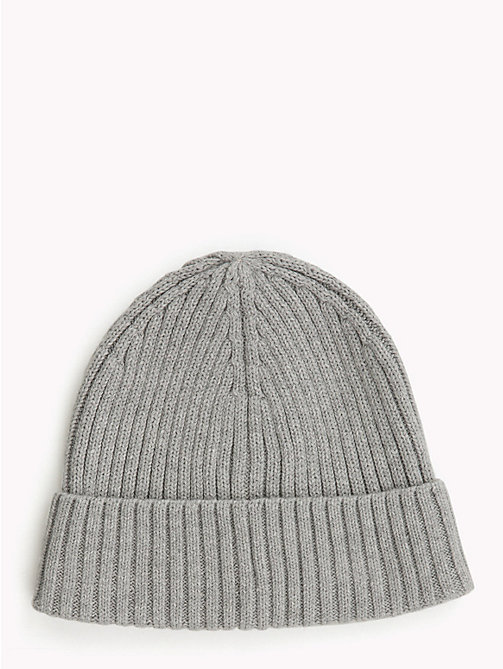TOMMY HILFIGER Kids' Chunky Knit Beanie - GREY HEATHER - TOMMY HILFIGER Shoes & Accessories - detail image 1