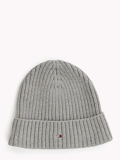 TOMMY HILFIGER Kids' Chunky Knit Beanie - GREY HEATHER - TOMMY HILFIGER Shoes & Accessories - main image