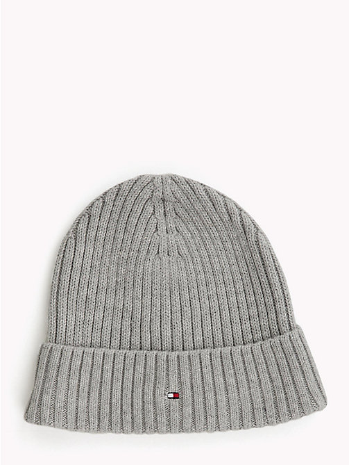 TOMMY HILFIGER Kids' Chunky Knit Beanie - GREY HEATHER - TOMMY HILFIGER Girls - main image