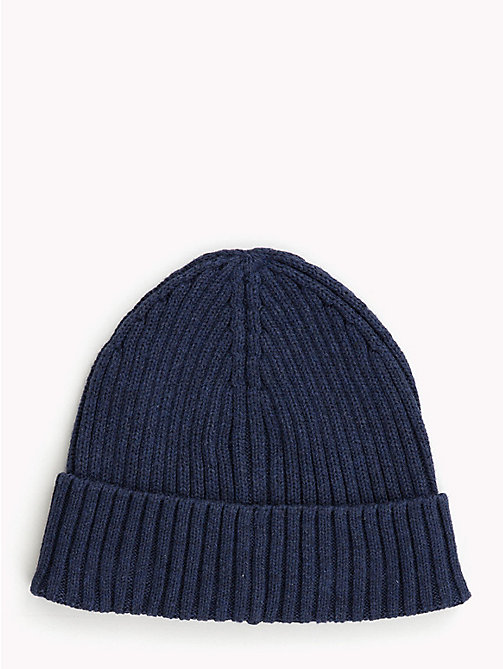 TOMMY HILFIGER Kids' Chunky Knit Beanie - BLACK IRIS - TOMMY HILFIGER Shoes & Accessories - detail image 1