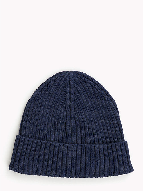 TOMMY HILFIGER Kids' Chunky Knit Beanie - BLACK IRIS - TOMMY HILFIGER Boys - detail image 1