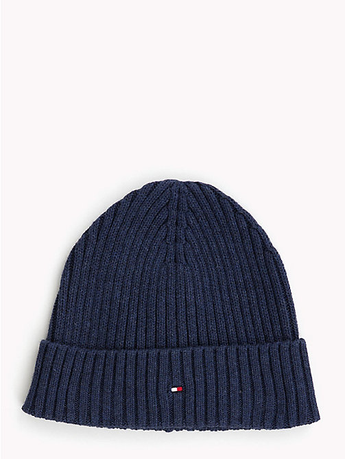 TOMMY HILFIGER Kids' Chunky Knit Beanie - BLACK IRIS - TOMMY HILFIGER Shoes & Accessories - main image