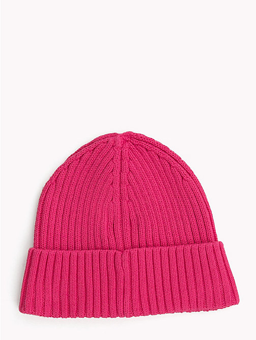 TOMMY HILFIGER Kids' Chunky Knit Beanie - PINK FLAMBE - TOMMY HILFIGER Shoes & Accessories - detail image 1