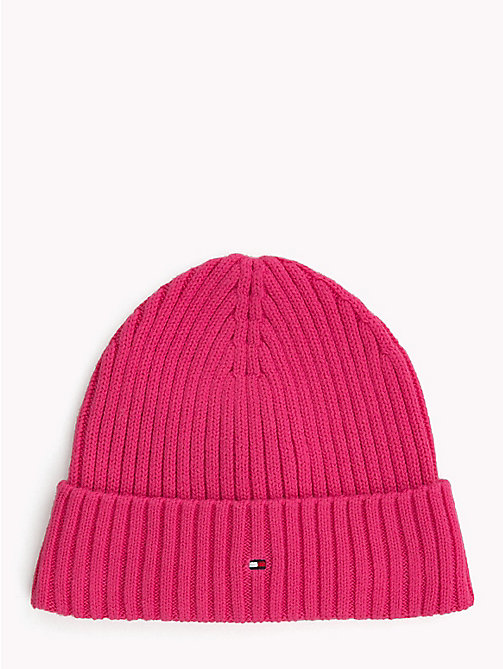 TOMMY HILFIGER Kids' Chunky Knit Beanie - PINK FLAMBE - TOMMY HILFIGER Shoes & Accessories - main image