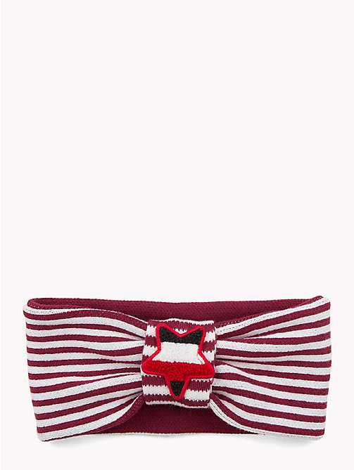 TOMMY HILFIGER Kids' Star and Stripe Headband - RUMBA RED/ WHITE - TOMMY HILFIGER Sports Capsule - main image