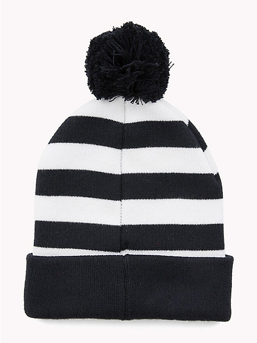 TOMMY HILFIGER Kids' Stripe Bobble Beanie - CORPORATE - TOMMY HILFIGER Shoes & Accessories - detail image 1