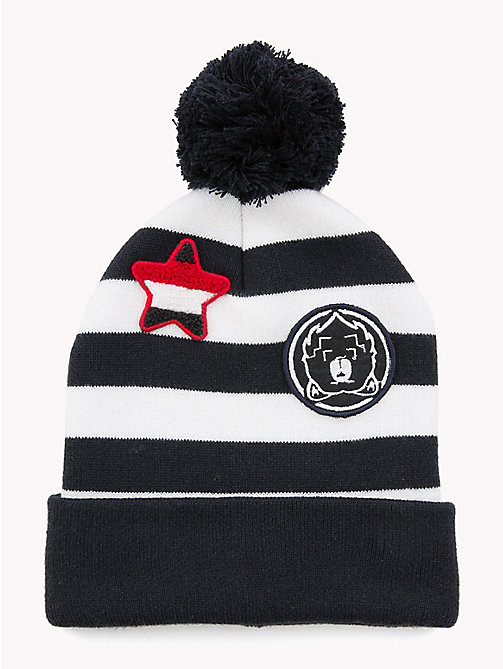 TOMMY HILFIGER Kids' Stripe Bobble Beanie - CORPORATE - TOMMY HILFIGER Shoes & Accessories - main image