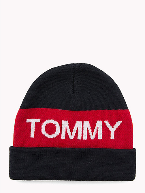 TOMMY HILFIGER Colour-Blocked Kids' Beanie - CORPORATE - TOMMY HILFIGER Shoes & Accessories - main image