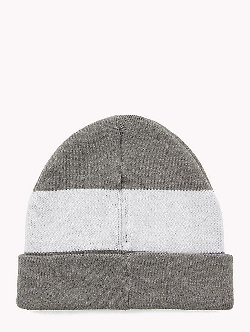 TOMMY HILFIGER Colour-Blocked Kids' Beanie - LIGHT GREY MIX - TOMMY HILFIGER Boys - detail image 1