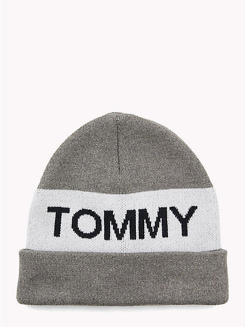 TOMMY HILFIGER Colour-Blocked Kids' Beanie - LIGHT GREY MIX - TOMMY HILFIGER Shoes & Accessories - main image