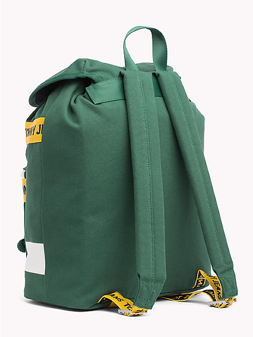 TOMMY JEANS Tommy Jeans Logo Backpack - HUNTER GREEN MIX - TOMMY JEANS Bags & Accessories - detail image 1