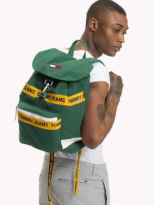 TOMMY JEANS Tommy Jeans Logo Backpack - HUNTER GREEN MIX - TOMMY JEANS Shoes & Accessories - detail image 1