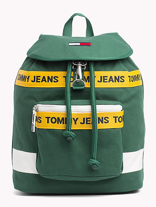 TOMMY JEANS Zaino con logo Tommy Jeans - HUNTER GREEN MIX - TOMMY JEANS Scarpe & Accessori - immagine principale