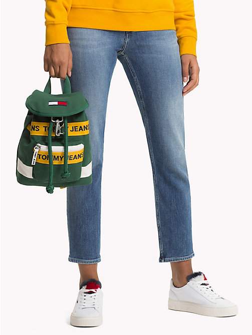 TOMMY JEANS Heritage Mini Backpack - HUNTER GREEN MIX - TOMMY JEANS Shoes & Accessories - detail image 1