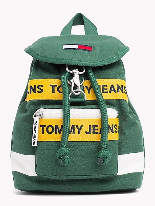 TOMMY JEANS Heritage Mini Backpack - HUNTER GREEN MIX - TOMMY JEANS Shoes & Accessories - main image