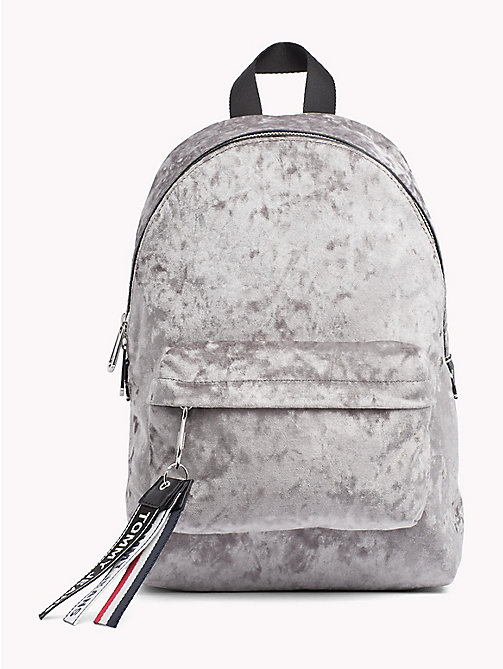 TOMMY JEANS Logo Tape Mini Velvet Backpack - CASTLEROCK - TOMMY JEANS Shoes & Accessories - main image