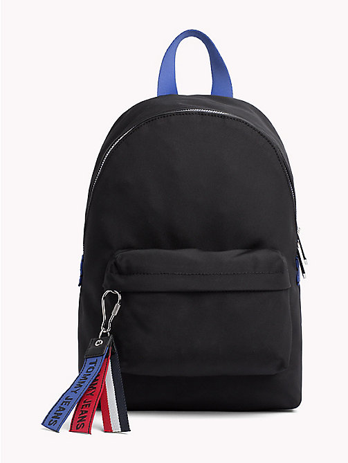 TOMMY JEANS Logo Tape Compact Backpack - BLACK MIX - TOMMY JEANS Bags & Accessories - main image