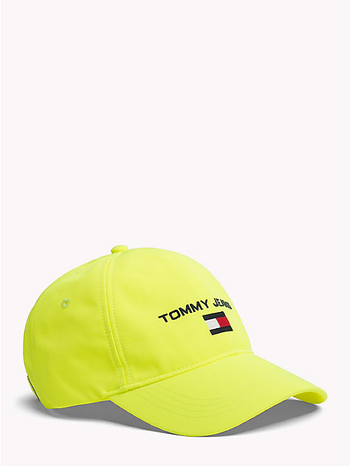 TOMMY JEANS 90s Style Soft Baseball Cap - SAFETY YELLOW - TOMMY JEANS Capsule - main image