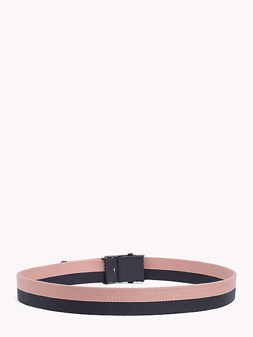 TOMMY HILFIGER Double Colour Webbing Belt - TOMMY NAVY- ROSE CLOUD - TOMMY HILFIGER Bags & Accessories - detail image 1