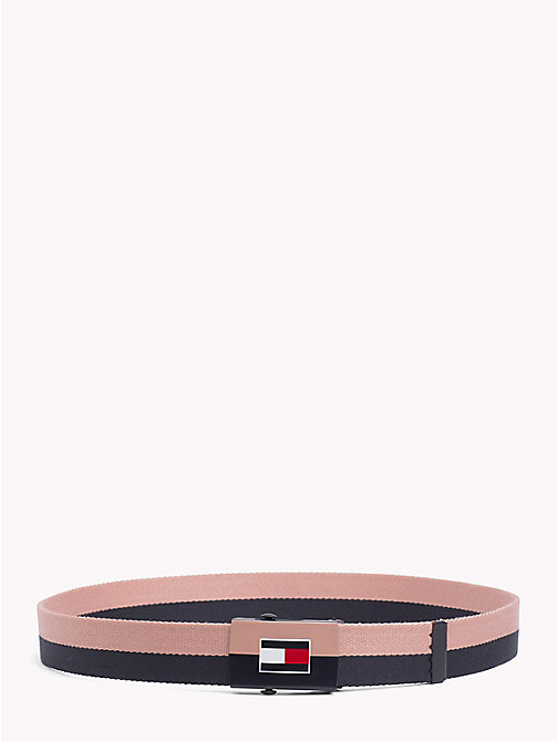 TOMMY HILFIGER Double Colour Webbing Belt - TOMMY NAVY- ROSE CLOUD - TOMMY HILFIGER Boys - main image