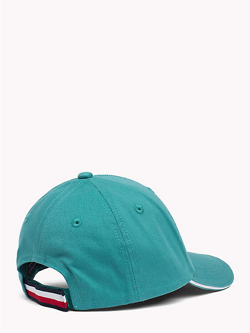 TOMMY HILFIGER UNISEX TOMMY CAP - GREEN BLUE SLATE - TOMMY HILFIGER Shoes & Accessories - detail image 1