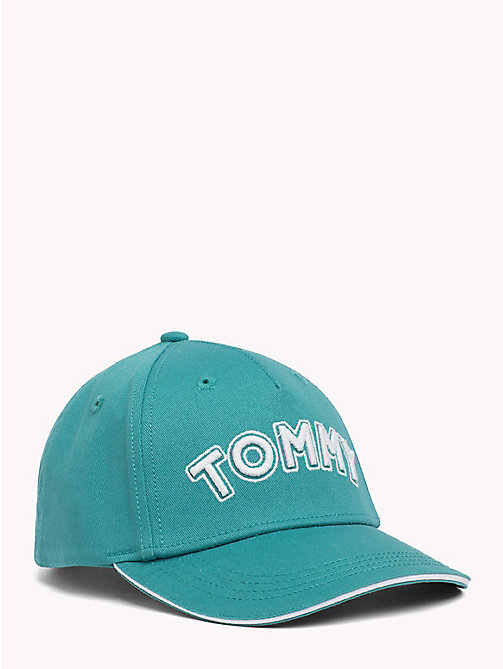 TOMMY HILFIGER UNISEX TOMMY CAP - GREEN BLUE SLATE - TOMMY HILFIGER Shoes & Accessories - main image