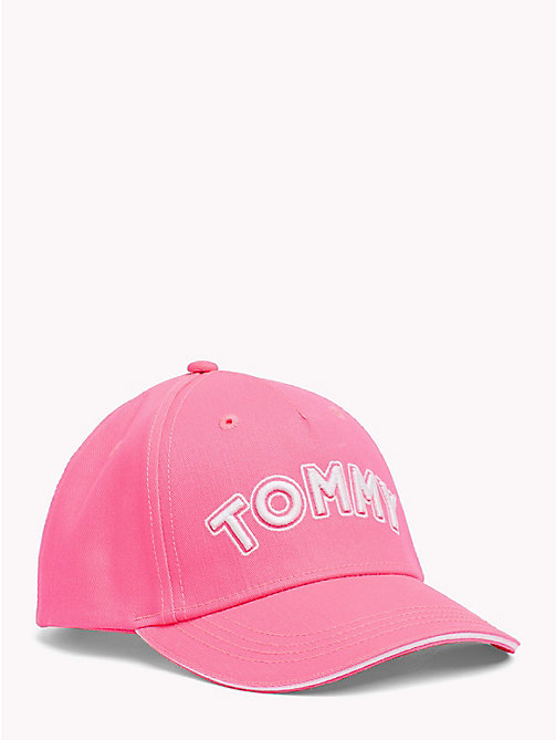TOMMY HILFIGER UNISEX TOMMY CAP - NEON PINK - TOMMY HILFIGER Shoes & Accessories - main image