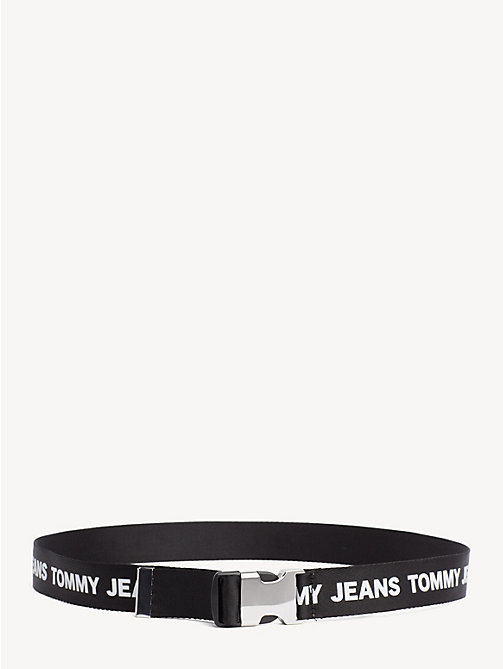 TOMMY JEANS Tommy Jeans Logo Webbing Belt - BLACK/WHITE - TOMMY JEANS Shoes & Accessories - main image