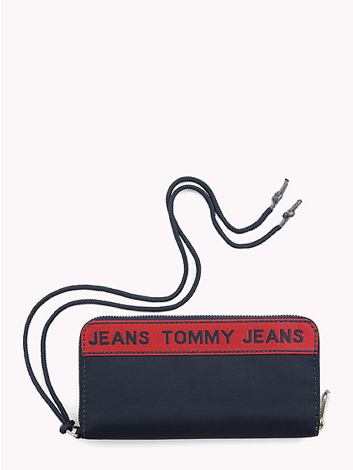 TOMMY JEANS Logo Tape Zip Wallet - BLACK IRIS - TOMMY JEANS Shoes & Accessories - detail image 1