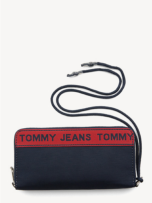 TOMMY JEANS Logo Tape Zip Wallet - BLACK IRIS - TOMMY JEANS Shoes & Accessories - main image
