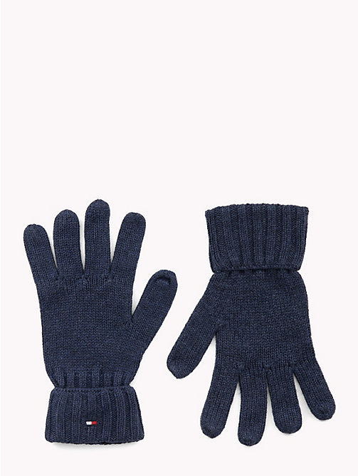 TOMMY HILFIGER Kids' Cotton Cashmere Flag Gloves - TOMMY NAVY - TOMMY HILFIGER Shoes & Accessories - main image