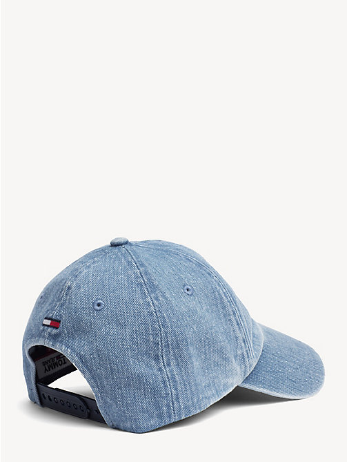TOMMY JEANS Embroidered Logo Denim Cap - DENIM BLUE - TOMMY JEANS Shoes & Accessories - detail image 1
