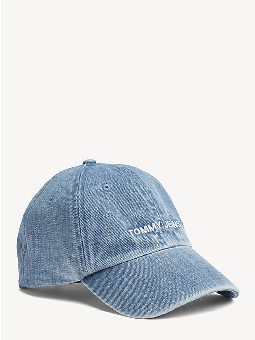 TOMMY JEANS Embroidered Logo Denim Cap - DENIM BLUE - TOMMY JEANS Shoes & Accessories - main image