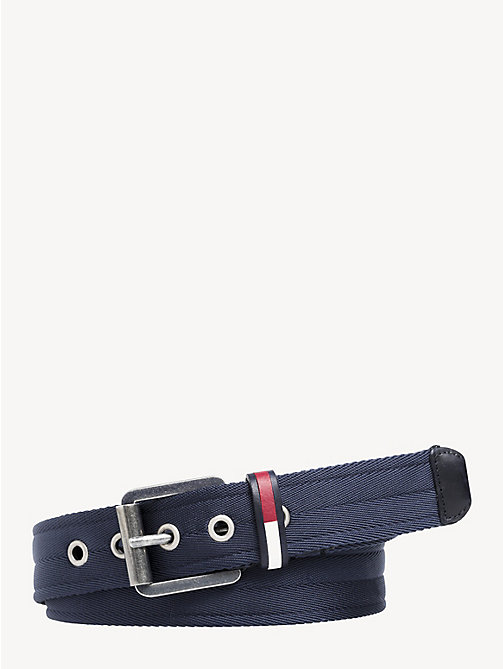 TOMMY JEANS Textured Metal Buckle Belt - BLACK IRIS - TOMMY JEANS Shoes & Accessories - main image