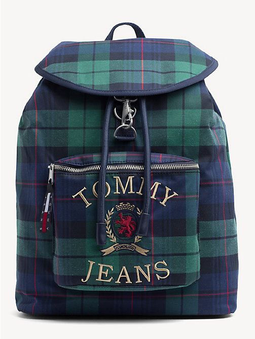 TOMMY JEANS 6.0 Crest Plaid Backpack - PLAID CHECK - TOMMY JEANS TOMMY JEANS Capsule - main image