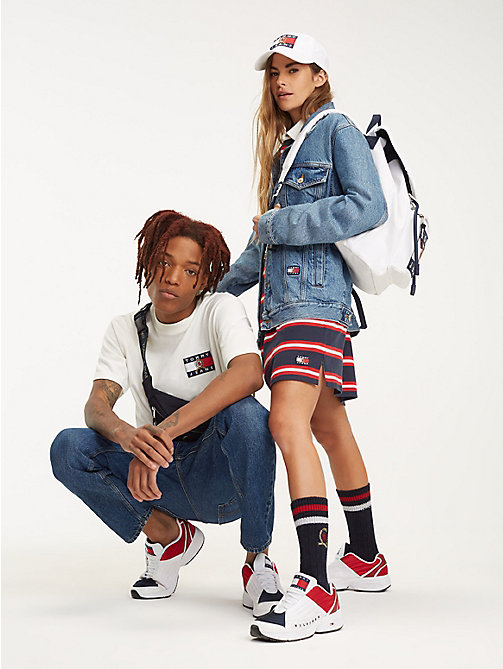 TOMMY JEANS Zaino in denim con stemma 6.0 - CLOUD DANCER - TOMMY JEANS TOMMY JEANS Capsule - dettaglio immagine 1