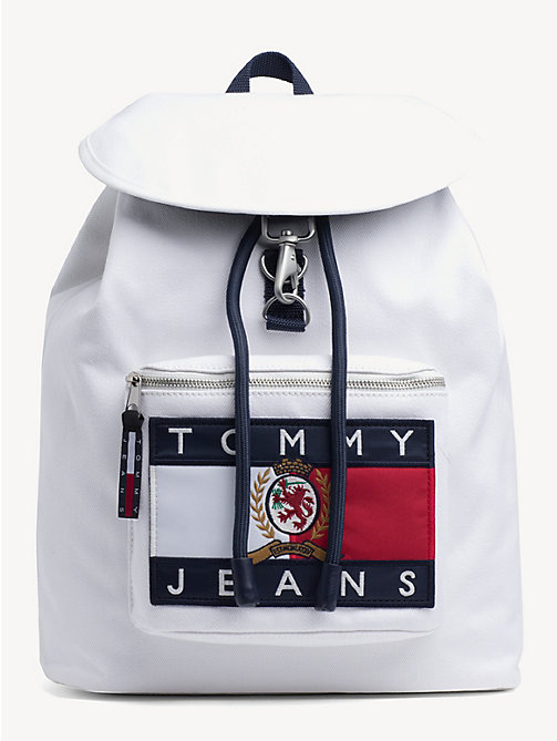 TOMMY JEANS 6.0 Crest Demin Backpack - CLOUD DANCER - TOMMY JEANS TOMMY JEANS Capsule - main image
