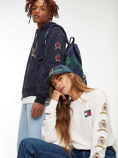 TOMMY JEANS 6.0 Crest Plaid Check Baseball Cap - PLAID - TOMMY JEANS TOMMY JEANS Capsule - detail image 1