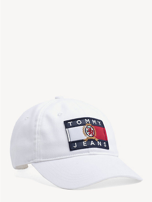 TOMMY JEANS 6.0 Crest Flag Baseball Cap - CLOUD DANCER - TOMMY JEANS TOMMY JEANS Capsule - main image