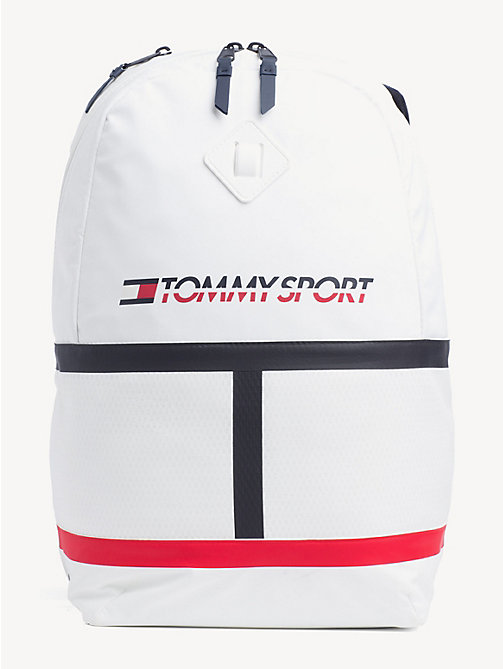 TOMMY SPORT TS Bright Flag Logo Backpack - BRIGHT WHITE - TOMMY SPORT Backpacks - main image