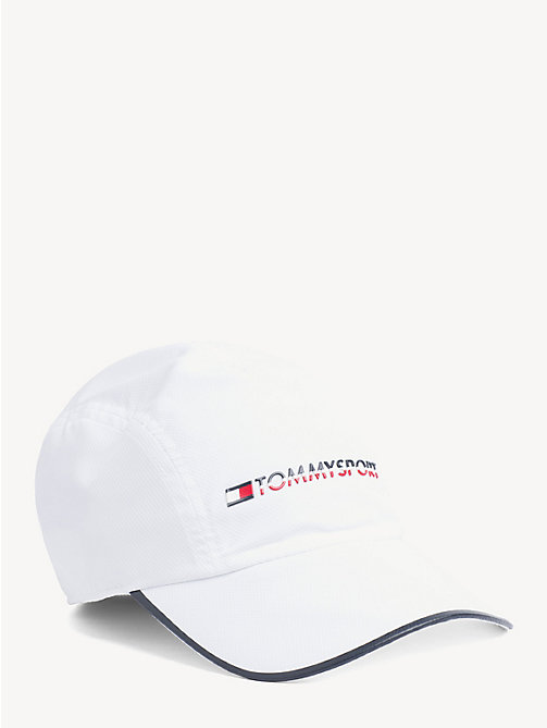 TOMMY SPORT TS Bright Contrast Trim Cap - BRIGHT WHITE - TOMMY SPORT Caps & Beanies - main image