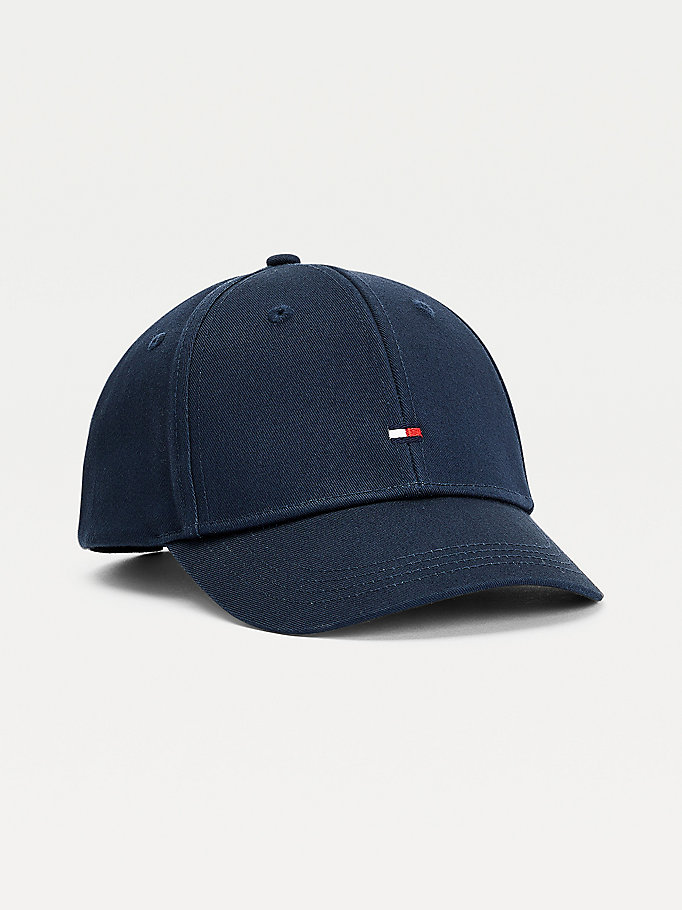 blue kids' flag embroidery baseball cap for kids unisex tommy hilfiger
