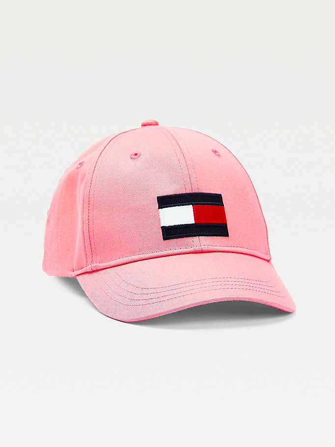 rosa kids baseball-cap mit flag-patch für kids unisex - tommy hilfiger