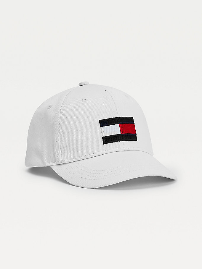 white kids' flag patch baseball cap for kids unisex tommy hilfiger