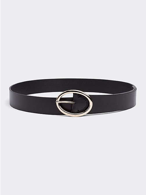 TOMMY HILFIGER Oval Buckle Belt - BLACK - TOMMY HILFIGER Belts - main image