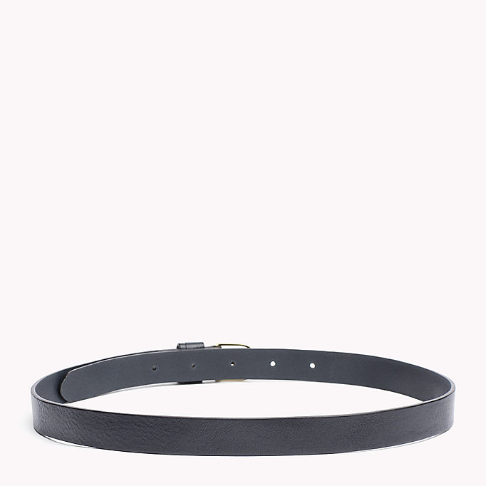 TOMMY HILFIGER Leather Belt - BLACK - TOMMY HILFIGER Women - detail image 1