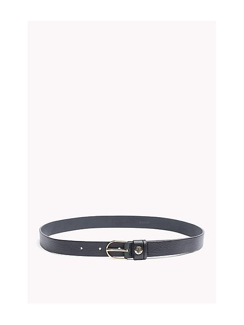 TOMMY HILFIGER Leather Belt - MIDNIGHT - TOMMY HILFIGER Belts - main image